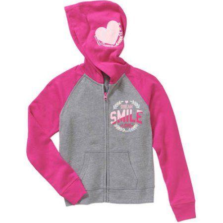 Danskin Girls Fleece Pullover Hoodie Jacket Pink