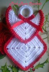 16+ Ideas for knitting christmas decorations granny squares #knitting