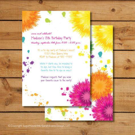 list of pinterest tue dye party invitations diy pictures pinterest