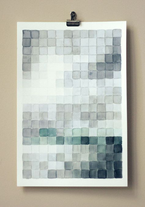 From Wit & Whistle: how to do a pixel watercolor working from a favorite photo. Looks like something I may have to try!