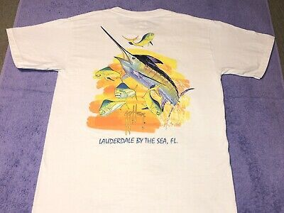 Guy Harvey Original W Front Pocket Small T Shirt Lauderdale By The