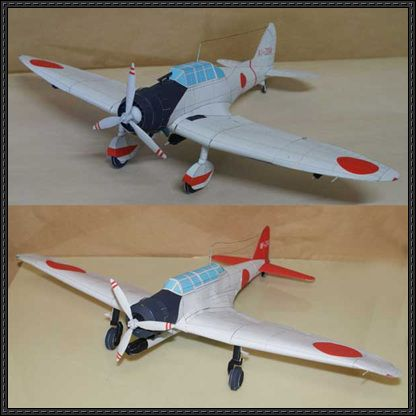 Wwii Nakajima B5n And Aichi D3a Free Aircraft Paper Models Download Paper Models Card Model Paper Crafts