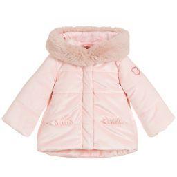 Girls Pink Padded Coat Puffer Coat Girls Pink Coat Blue Velour