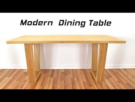 Making High End Furniture From Plywood - DIY Modern Dining ...