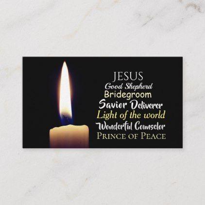 Names Of Jesus Savior Deliverer Good Shepherd Business Card Zazzle Com Names Of Jesus Custom Business Cards Business Card Template Design