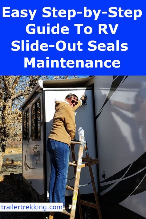 Easy RV Slide-Out Seals Maintenance – Trailer Trekking Rv Camping Checklist, Rv Camping Tips, Camping Ideas, Camping Outdoors, Camping Essentials, Camping Products, Camping Supplies, Family Camping, Travel Camper