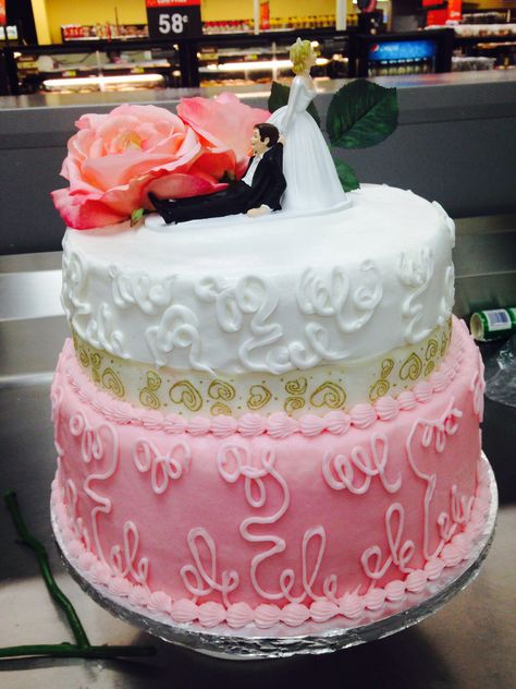 Two Tier Wedding Cake Walmart