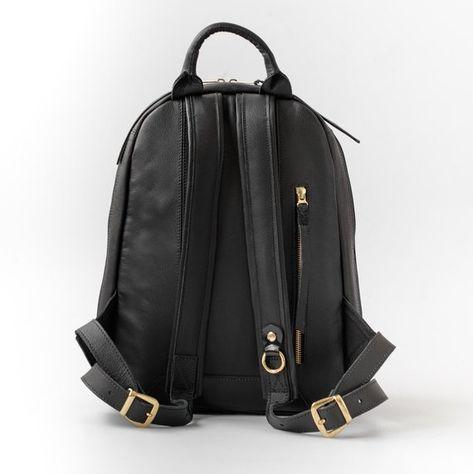 40a171c1c1 Black leather backpack woman Laptop leather messenger bag Laptop ...