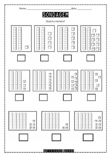 Sondagem Material Dourado Tabela Numeros Pares E Impares Com