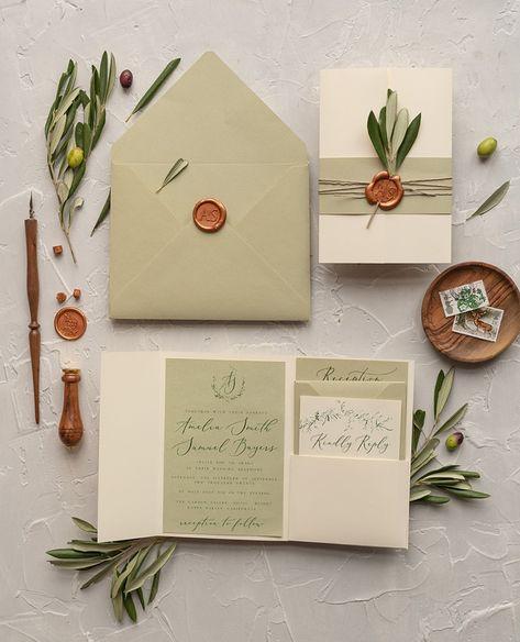 wedding invitations botanical / modern 1/ol/z