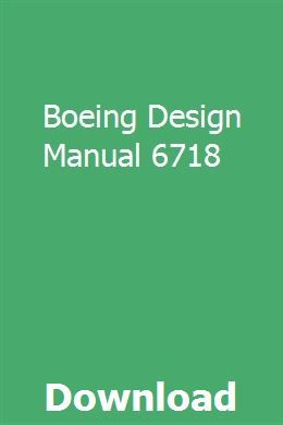 Boeing Design Manual 6718 Pdf Download Full Online With Images