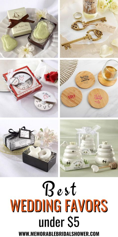 Best wedding favors for guests that cost less than $5. #weddingfavors #weddingfavours #cheap #guests