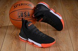 Nike LeBron 16 Black Orange White Men's