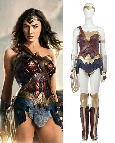 Wonder Woman Cosplay Adult Costume Diana Prince Dress Corset Rope Outfits