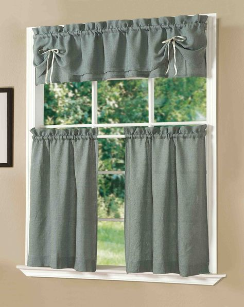 amazon com dainty home lucia kitchen curtain set taupe window rh pinterest ie