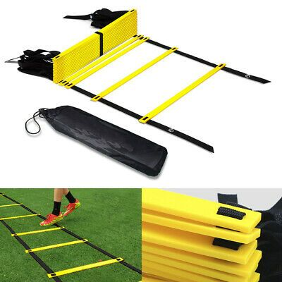 Advertisement Ebay 12 Rung Agility Speed Ladder Soccer Training Football Exercise Fitness Equipment In 2020 Agility Ladder Football Workouts No Equipment Workout