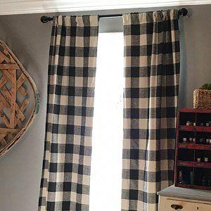 Black And White Buffalo Check Curtains Rod Pocket Farmhouse