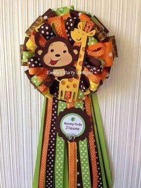 Safari O Jungla Baby Shower Corsage Por Designsbyemilys En Etsy