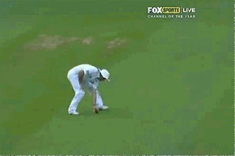 Cricket Player Andrew Strauss Accidentally Destroys His Own Sunglasses.
