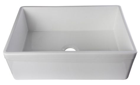 Alfi Brand 32 Fireclay Farmhouse Sink Ab5123 B Hen Tilly Farmhouse Sinks Farm Sink Sink Farmhouse Sink Kitchen