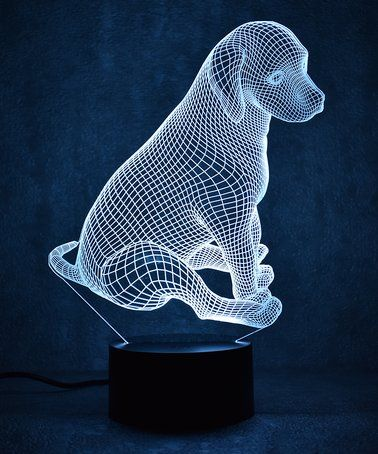 Love This Dog 3d Optical Illusion Color Changing Led Lamp On Zulily Zulilyfinds Dibujos En Vidrio Lamparas 3d Lampara De Noche