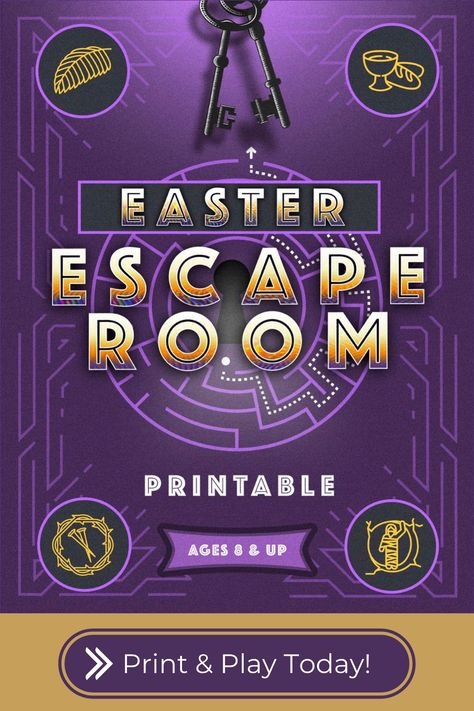 Printable Easter Escape Room for Ages 8+. Solve 4 mysteries related to the arrest, trial, crucifixion, & resurrection of Christ by decoding puzzles, answering questions, and breaking secret codes! Easter Games, Easter Activities, Easter Crafts For Kids, Activities For Kids, April Easter, Easter 2021, Escape Room For Kids, Church Activities, Sunday School Crafts