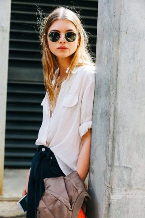 How great is this look?  Love how the Ray-Ban's totally make the look. Find similar once here: http://asos.do/rcH0eJ http://asos.do/WU2ZYI
