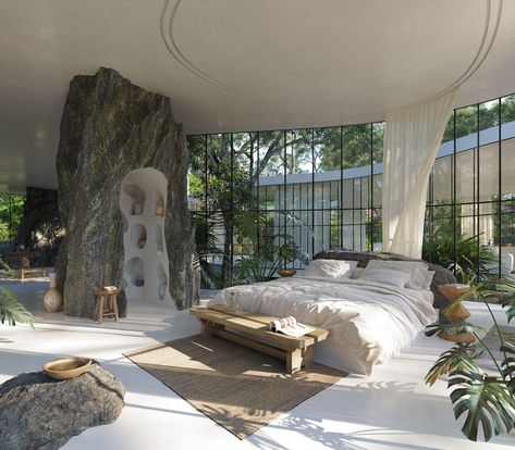 Une maison de verre design dans la nature brésilienne - PLANETE DECO a homes world Dream Home Design, My Dream Home, Future House, Brutalist Design, Jungle House, Forest House, Verre Design, Aesthetic Bedroom, House Goals