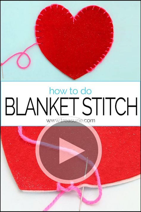 {BLANKET STITCH} Learn how to do Blanket Stitch step by step with photos, great instructions and even a video. Best blanket stitch tutorial!
