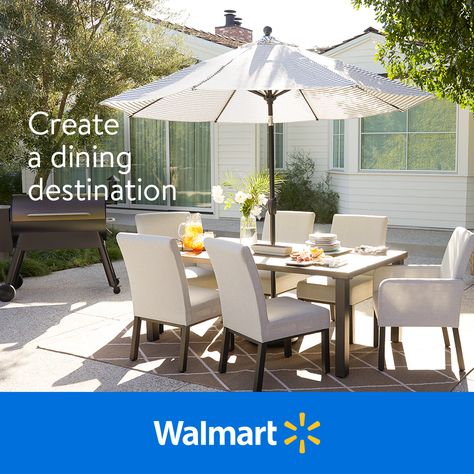 Take your dining room outside