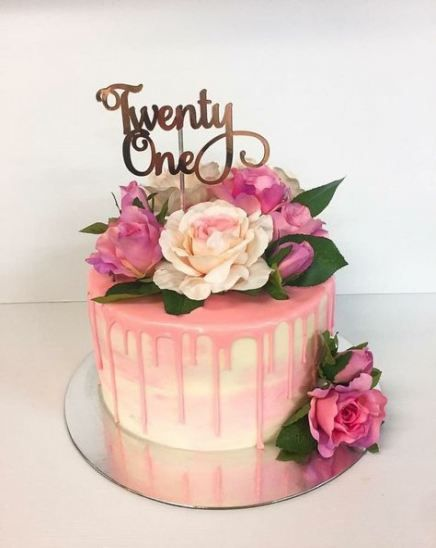 Cake Ideas For Women : ideas, women, Trendy, Ideas, Birthday, Women, Cakes,, Flowers,, Cakes