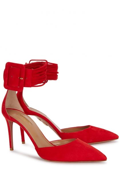 8ca9a8dd53e AQUAZZURA Casablanca red suede pumps - Harvey Nichols | Shoes ...