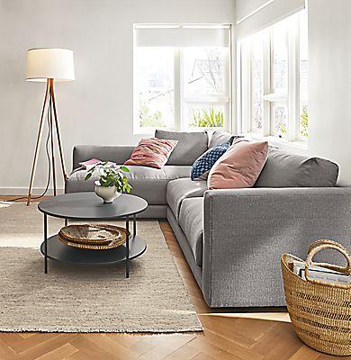 Clemens Sectionals Modern Sectionals Modern Living Room Furniture Room Board Living Room Decor Gray Living Room Decor Grey Couch Grey Couch Living Room