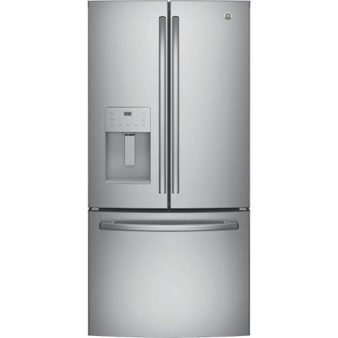Ge Energy Star 23 7 Cu Ft French Door Refrigerator French