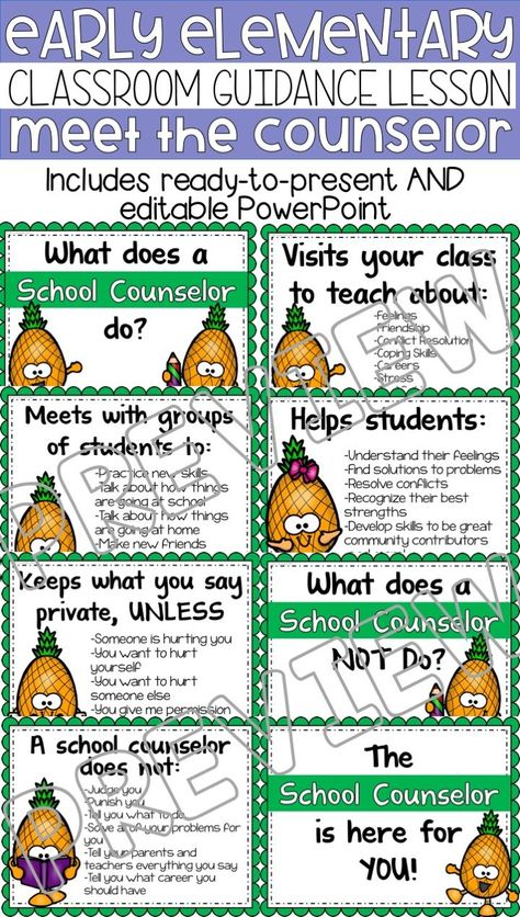 Meet the Counselor Classroom Guidance Lesson Early Elementary School Counseling