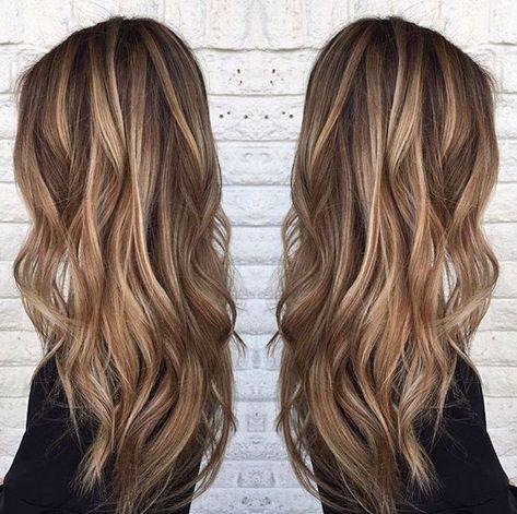 Haarfarbe braun und blond