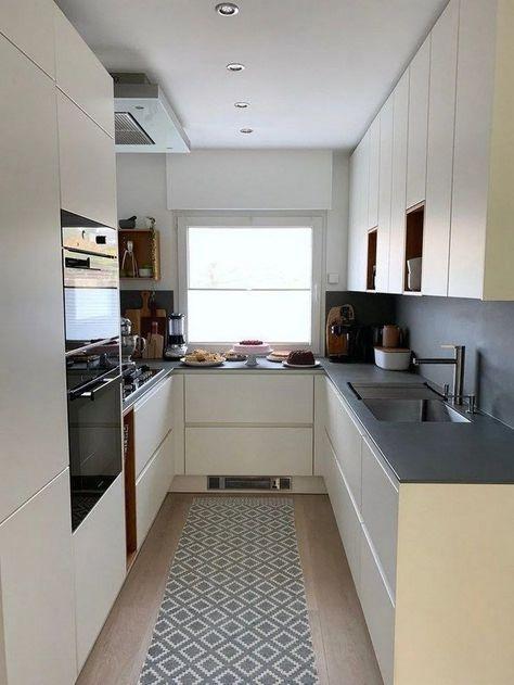33 Attractive Small Kitchen Design Ideas Small Modern Kitchens Handleless Kitchen Modern Kitchen Interiors