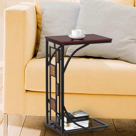 Yaheetech Living Room Sofa Side End Snack Table Tray Stand Rack Sofa Side Table Sofa Snack Table Living Table