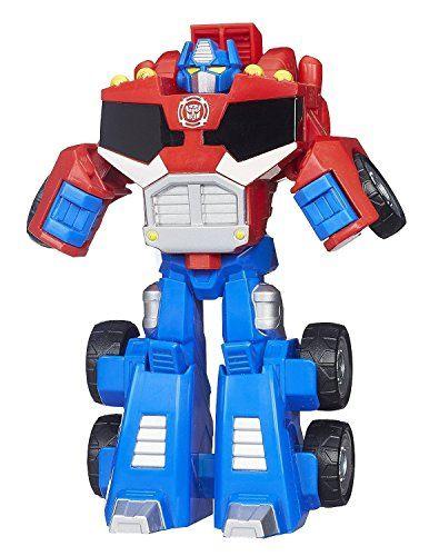 Transformers Playskool Heroes Rescue Bots Optimus Prime Action Figur Kindergrosse Rescue Bots Figur Sieht Aus Transformers Spielzeug Transformers Optimus Prime