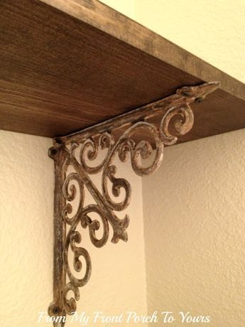 How To Make New Iron Brackets Look Old Decor Shabby Chic Diy Home Decor