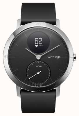 Withings Steel Hr 40mm Black Silicone Strap Hwa03b 40black All Inter Nokia Tracking Watch Activity Tracking