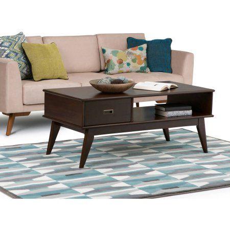 Simpli Home Draper Mid Century Coffee Table Brown Mid Century Coffee Table Coffee Table With Storage Furniture