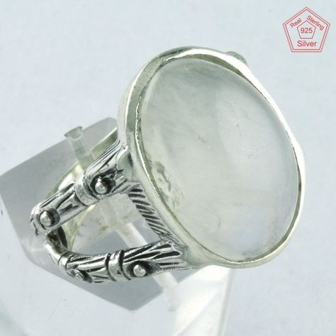 Rainbow Moonstone Ring 925 Solid Sterling Silver Handmade Jewelry US-RBM-025
