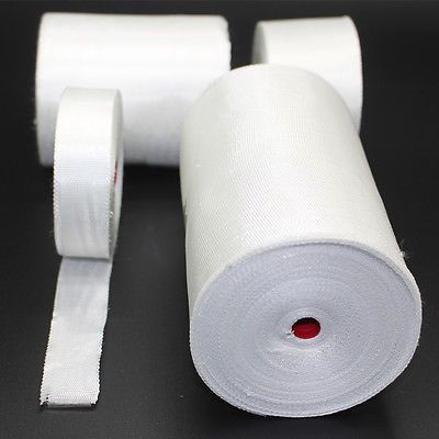 5 Rolls 20mm Plain Weave Fiberglass Cloth Tape E-Glass wide Fiber