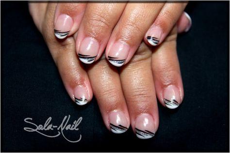 French en gel sur ongles naturels et nail art discret