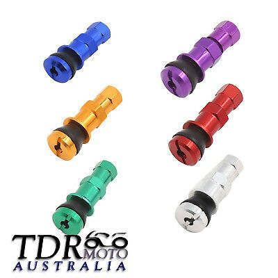 DUST CAP MOTORBIKE MOTORCYCLE SCOOTER BIKE TUBELESS STEEL TYRE VALVE BOLT IN