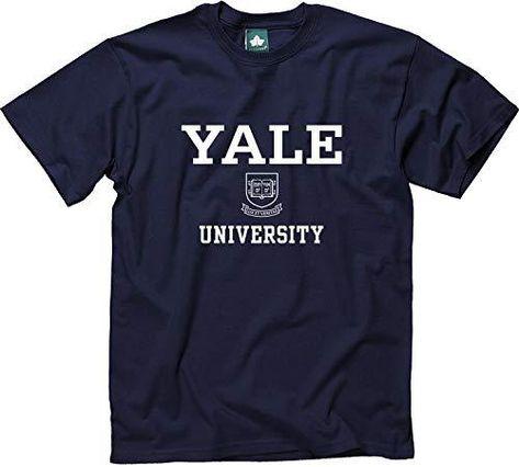 Ivysport Adult Cotton T-Shirt, Short Sleeve, with Official Crest Logo - Yale - Navy / Medium