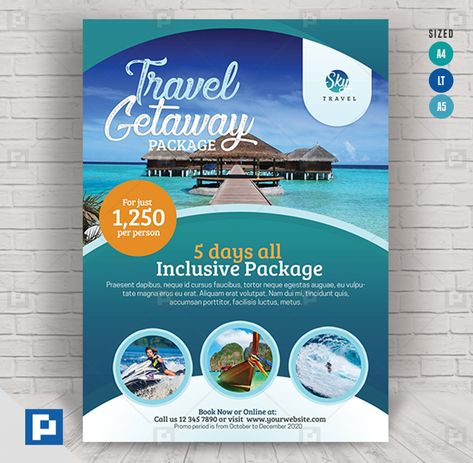 Travel Services Flyer - PSDPixel