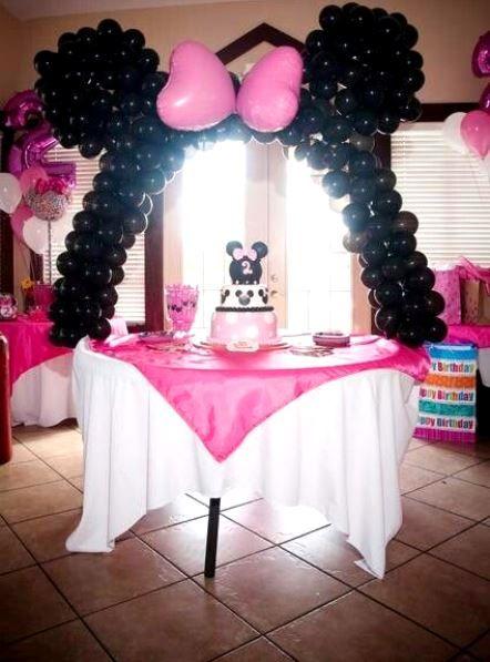 Minnie Mouse Polka Dots Birthday Party Ideas Photo 1 Of 4 Minnie Mouse Birthday Party Decorations Minnie Mouse Balloons Polka Dot Birthday Party