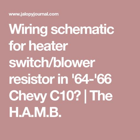 [DIAGRAM_0HG]  Pin on 64-66 Chevy trucks | 1966 Chevy Truck Heater Wiring |  | Pinterest